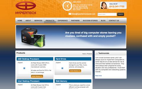 Screenshot of Products Page hypertechcomputer.com - Products | HyperTech Computers, Inc.HyperTech Computers, Inc. - captured Oct. 3, 2014