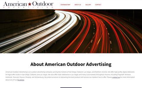 Screenshot of About Page americanoutdoor.com - American Outdoor Advertising - Out-Of-Home Advertising - captured Sept. 24, 2018