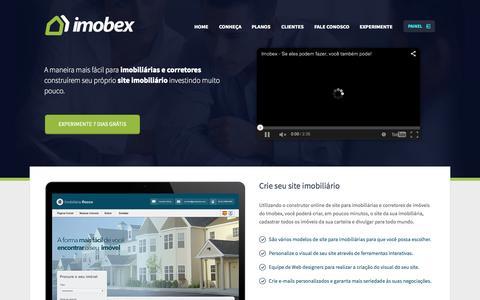 Screenshot of Home Page imobex.com.br - Sites para Imobiliárias e Corretores de Imóveis - Imobex - captured Aug. 4, 2015