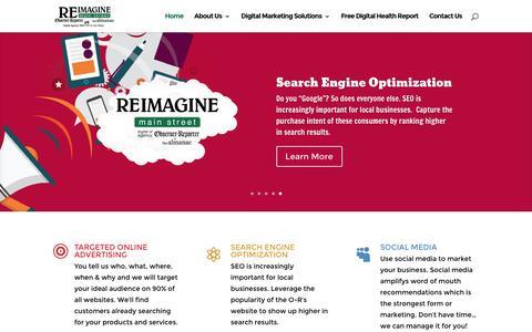 Screenshot of Home Page reimaginemainstreet.com - Digital Marketing Agency | Reimagine Main Street - captured Dec. 14, 2016
