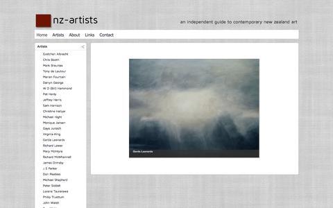 Screenshot of Home Page nz-artists.co.nz - nz-artists - captured June 18, 2016