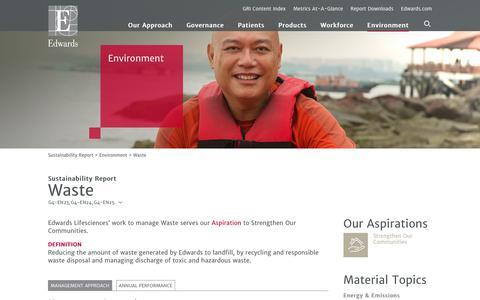 Edwards 2016 Sustainability Report   Waste