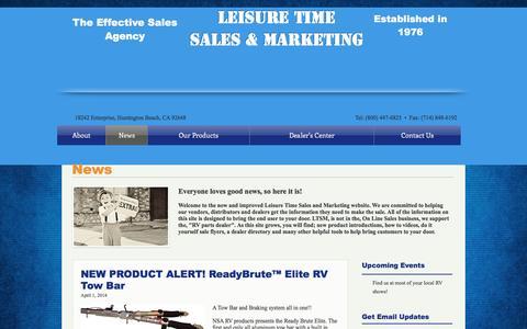 Screenshot of Press Page leisuretimemarketing.com - Leisure Time Marketing - News - captured May 17, 2017