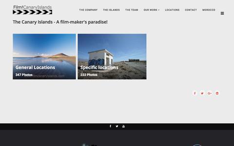 Screenshot of Locations Page filmcanaryislands.com - Photography Film TV Location Canary Islands - Tenerife, Lanzarote, Fuerteventura, Gran Canaria, La Palma - captured July 13, 2018