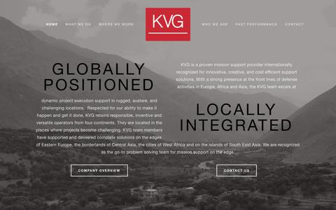 Screenshot of Home Page kvg.com - KVG - captured June 16, 2015