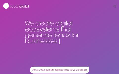 Screenshot of Home Page liquid.digital - Liquid Digital - Digital Ecosystems for your business - captured Jan. 26, 2018