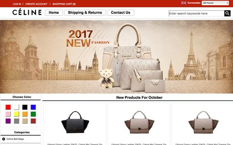 Screenshot of Home Page actionbc.co.uk - Replica Celine Handbags | Celine Bags for sale in the online store. - captured Oct. 7, 2017