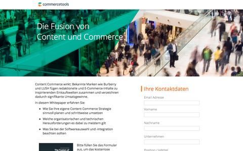 Screenshot of Landing Page commercetools.com - commercetools | Die Fusion von Content und Commerce - captured March 30, 2017