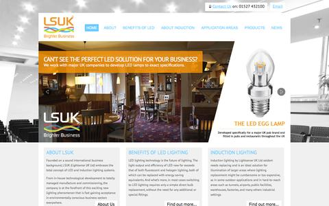 Screenshot of Home Page lsuk.com - LSUK Home Page | Manufacturer and supplier of high quality commercial LED and induction lighting. - captured Oct. 2, 2014