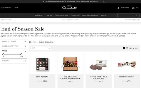 Sale Chocolate Offers - Luxury Gifts & Treats at Hotel Chocolat