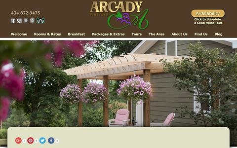 Screenshot of Contact Page Maps & Directions Page innarcadyvineyard.com - Bed and Breakfast Lodging in Virginia's Wine Country - captured Jan. 27, 2018