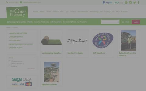 Screenshot of Products Page theotternursery.com - Products - The Otter Nursery - Ottershaw, Surrey - captured June 15, 2017