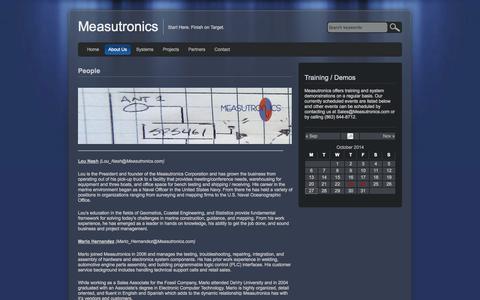 Screenshot of Team Page measutronics.com - People - Measutronics Measutronics - captured Oct. 27, 2014