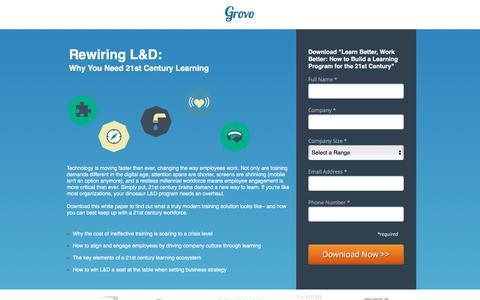 Screenshot of Landing Page grovo.com - Learn Better, Work Better | Grovo - captured Oct. 20, 2016