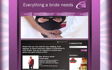 Screenshot of Team Page theultimatebride.co.uk - Wedding people, first dance instructors and toastmasters for weddings - captured Oct. 9, 2014