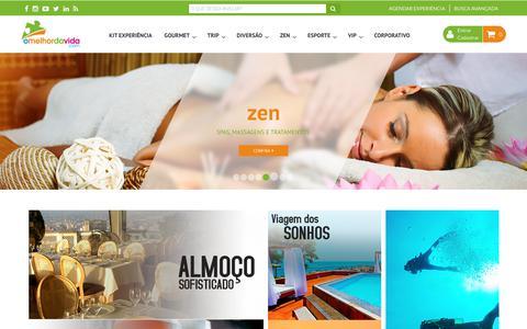 Screenshot of Home Page omelhordavida.com.br - O Melhor da Vida - captured Oct. 18, 2018