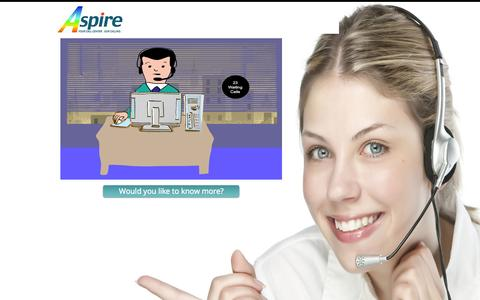Screenshot of Home Page aspirecct.com - Aspire Call Center Technologies - contact center - captured Oct. 5, 2014
