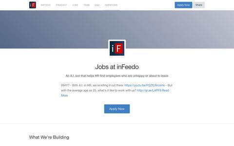 Screenshot of Team Page angel.co - inFeedo Jobs - AngelList - captured Jan. 13, 2018