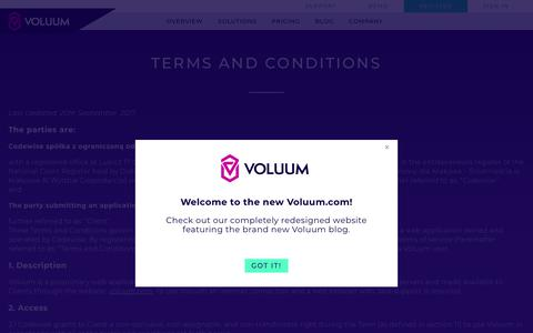 Voluum Terms and Conditions
