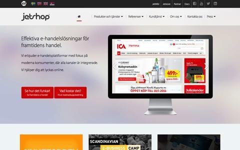Screenshot of Home Page jetshop.se - Plattform och kunskap fšr modern e-handel - captured Jan. 9, 2016