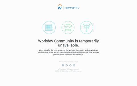 Site under maintenance   Workday Community