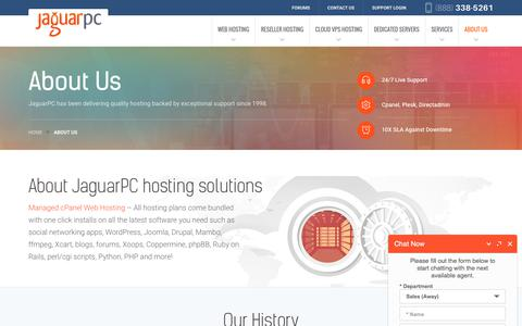 Screenshot of About Page jaguarpc.com - About JaguarPC | VPS & Web Hosting Provider | Professional Web Hosting Services | Dedicated Servers - captured Oct. 7, 2017