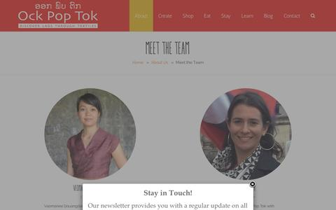 Screenshot of Team Page ockpoptok.com - Ock Pop Tok – award winning textiles from Luang Prabang, Laos  –  Meet the Team - captured Jan. 11, 2016
