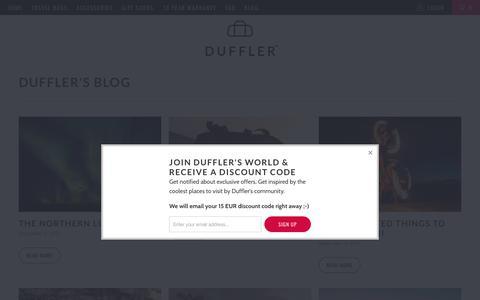 Screenshot of Press Page duffler.com - DUFFLER's Blog - captured Oct. 13, 2017