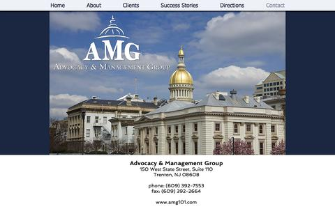 Screenshot of Contact Page amg101.com - Contact Advocacy & Management Group - captured Oct. 7, 2017