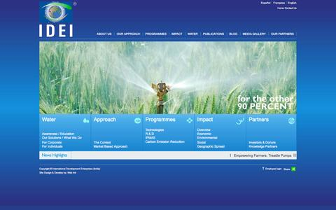 Screenshot of Home Page ide-india.org captured Sept. 30, 2014