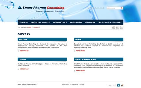 Screenshot of About Page smart-pharma.com - Smart Pharma - About us - captured July 6, 2017