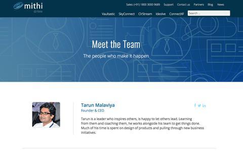 Screenshot of Team Page mithi.com - Meet the Mithi team - Mithi - captured July 14, 2018