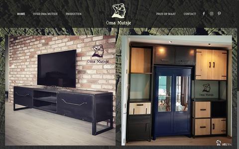 Screenshot of Home Page omamutsje.nl - Oma Mutsje, betaalbare meubels op maat gemaakt! - captured Sept. 20, 2018