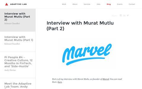 Screenshot of Blog adaptivelab.com - Adaptive Lab | Interview with Murat Mutlu (Part 2) - captured July 24, 2016