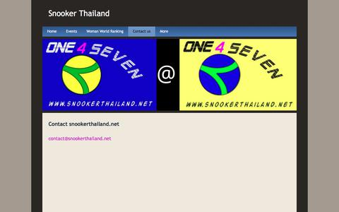 Screenshot of Contact Page snookerthailand.net - Contact us - Snooker Thailand - captured Feb. 19, 2018