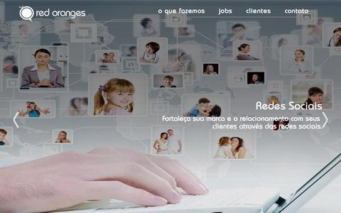 Screenshot of Home Page redoranges.com.br - Red Oranges Web - Marketing - Designer - captured Oct. 1, 2014