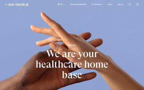 Screenshot of Services Page onemedical.com - Your Primary Care Home Base - Services | One Medical - captured Dec. 5, 2018