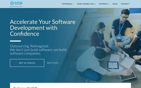 Screenshot of Home Page kms-technology.com - Offshore Software Development and Testing Company   KMS Technology - captured July 14, 2019