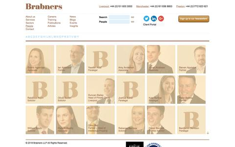 Screenshot of Team Page brabners.com - People | Brabners LLP - captured Aug. 3, 2018