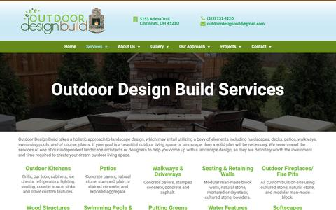 Screenshot of Services Page outdoordesignbuild.com - Outdoor Design Build Services | Outdoor Design Build - captured Oct. 20, 2018