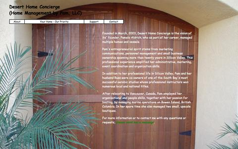 Screenshot of Team Page deserthomeconcierge.com - About - captured Sept. 30, 2014