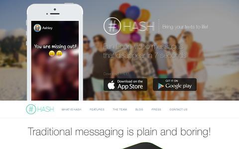 Screenshot of Home Page hash.me - HASH - captured July 17, 2014