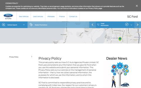 Screenshot of Privacy Page scford.net - Privacy Policy at SC Ford of Malad - captured Nov. 17, 2016
