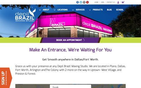 Screenshot of Locations Page depilbrazilwaxing.com - Brazilian Wax Near Me   Waxing Services Near Me   Depil Brazil Locations - Depil Brazil Waxing Studio (for Women and Men) - captured Oct. 7, 2018