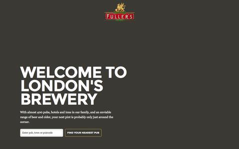 Screenshot of Home Page fullers.co.uk - Homepage - Fuller's - captured Jan. 27, 2015