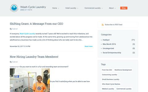 Screenshot of Blog washcyclelaundry.com - Launder and Press - Wash Cycle Laundry - captured Nov. 16, 2018