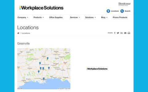 Screenshot of Locations Page barefieldandcompany.com - Locations Archive - Workplace Solutions - captured Oct. 5, 2018