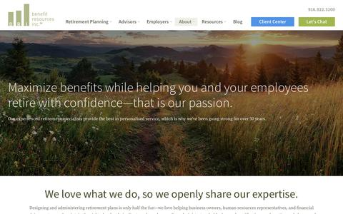 Screenshot of About Page benefit-resources.com - About Benefit Resources  | Benefit Resources Inc. - captured May 22, 2018