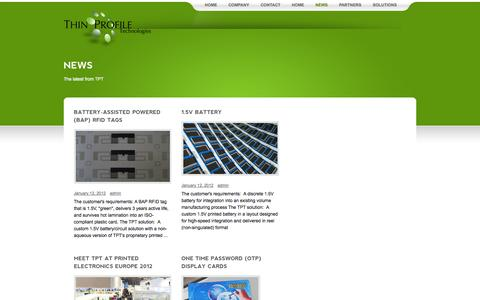 Screenshot of Press Page thinprofiletech.com - Thin Profile Technologies – News - captured Sept. 17, 2014