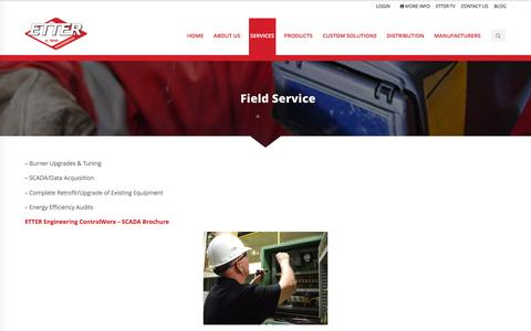 Screenshot of Services Page etterengineering.com - Field Service - Etter Engineering Company - captured Nov. 11, 2015